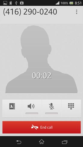 Sony Xperia phone screen