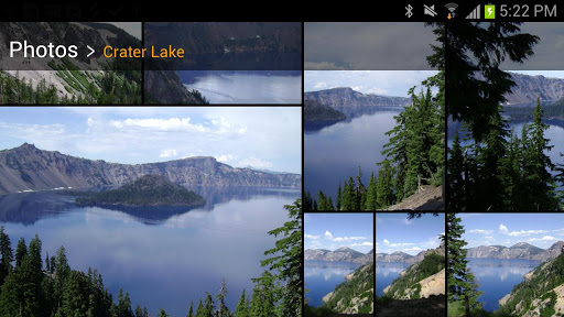 Amazon.ca's Cloud Drive Photos app is available for Android or iOS.