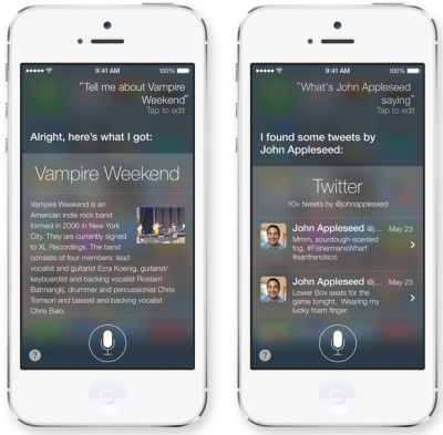 Siri Apple iOS7