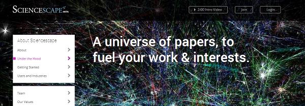 (Image: Sciencescape screenshot)
