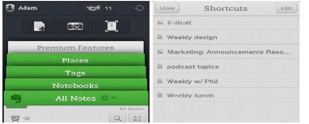 Evernote iPhone iPad update