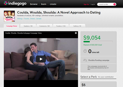 Screenshot of Tara Reed's Indiegogo campaign.