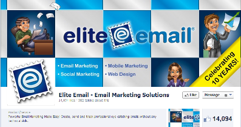 Elite Email's Facebook page.