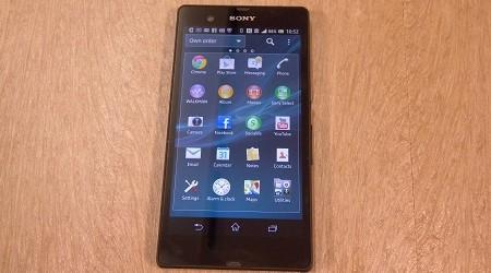 The Sony Xperia Z.