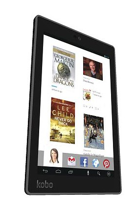 The Kobo Arc 7HD tablet.