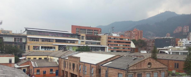 View of a Bogota neighbourhood from a local art gallery