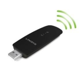 Linksys wireless-AC USB adapter.