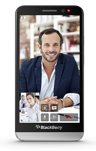The BlackBerry Z30, recording video calls.