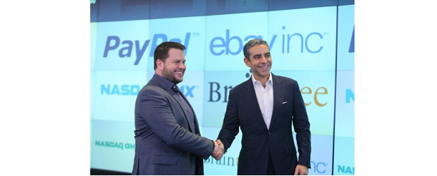 Braintree CEO, Bill Ready (left) and PayPal president David Marcus.