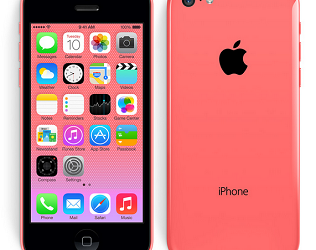 The iPhone 5C comes in green, grey, light blue, pink, yellow, and white.