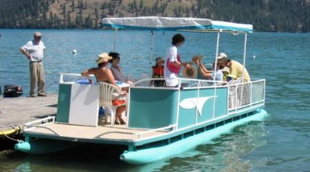 (Image: Kalaway Bay resort). Guests boating near the resort.