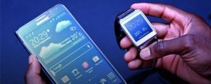 The Galaxy Gear and Note 3.