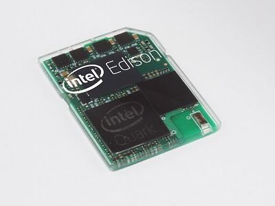 (Image: Intel). Intel's Edison mini computer.