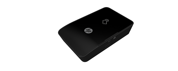 (Image: HP). The HP 1200W mobile printing accessory.