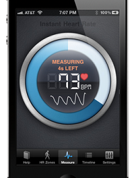 (Image: Azumio). The Instant Heart Rate app.