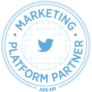 Twitter marketing platform partners will display this graphic on their page.