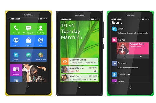Screenshots of the Nokia X. (Image: Nokia).