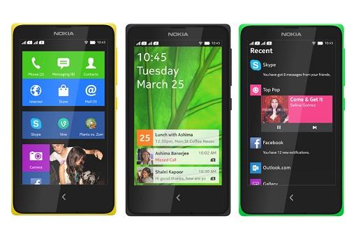 Screenshots of the Nokia X. (Image: Nokia).