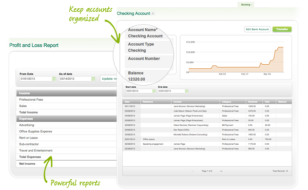 Invoicing for Sage One. (Image: Sage North America).