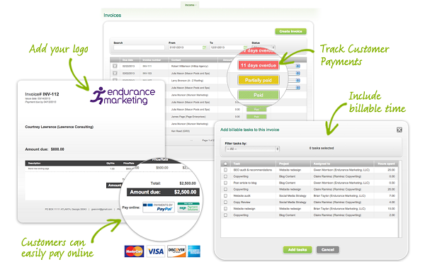 Invoicing feature on Sage One. (Image: Sage North America).
