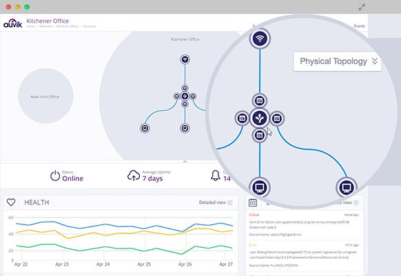 Screenshot of Auvik providing insight into network configuration. (Image: Auvik).