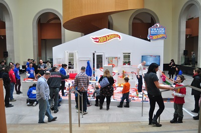 The Hot Wheels Ultimate Track is on display at the Art Gallery of Ontario until March 16. (Image: Hot Wheels).
