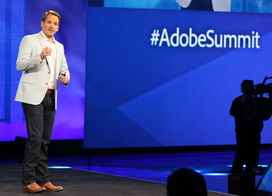 John Mellor, vice-president of business development and strategy, Adobe presents at Summit day two.