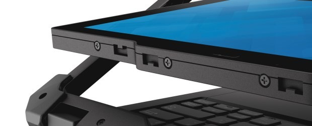 The screen of the Dell Latitude 12 Rugged Extreme flips to convert the laptop into a tablet. (Image: Dell).