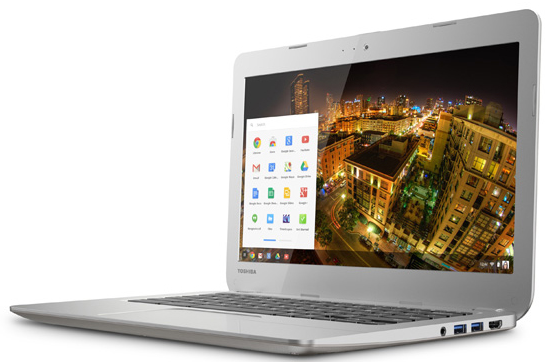 Toshiba Chromebook angle
