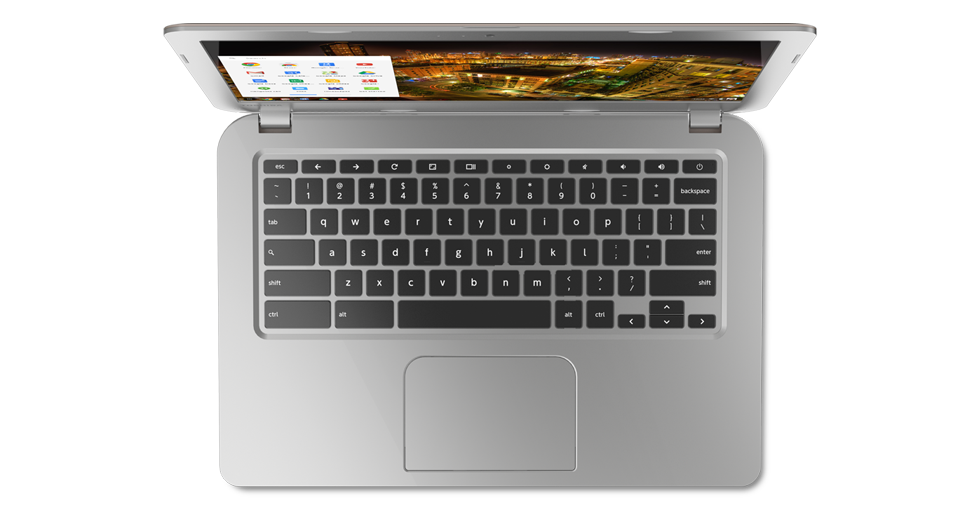 Toshiba's Chromebook keyboard design looks exactly like a MacBook keyboard.