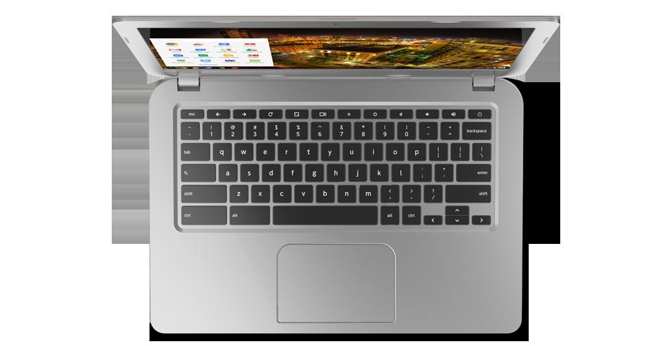 Toshiba's Chromebook keyboard design looks exactly like a MacBook keyboard.