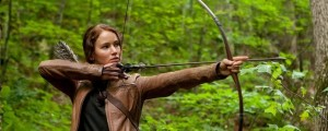 Jennifer Lawrence starring as Katniss Everdeen in Lionsgate Home Entertainment's The Hunger Games. (Image: Murray Close. Lionsgate).