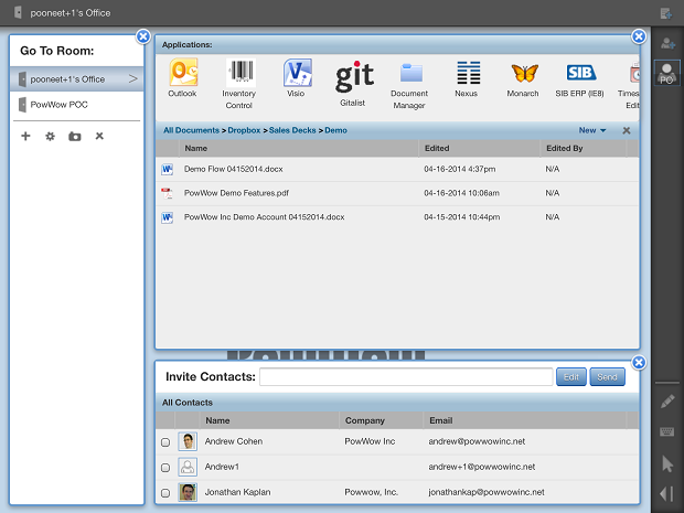 Screenshot of PowWow's platform.  (Image: PowWow).