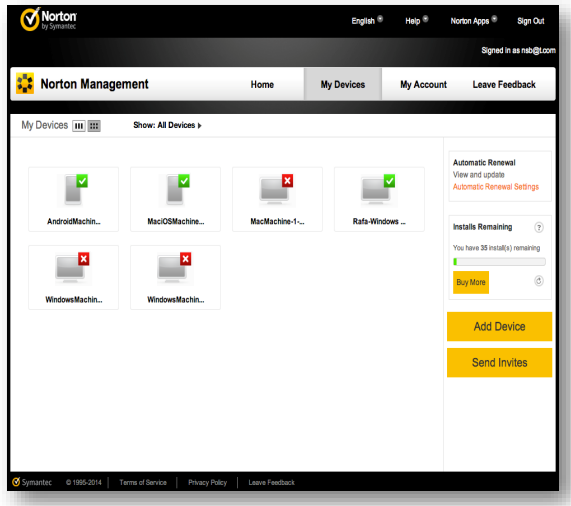 Norton Small Business management