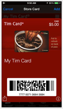 Tim Hortons updated the way its bar codes are encrypted for its mobile app.
