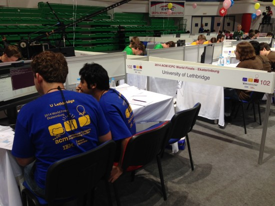 The University of Lethbridge team competes at ICPC.