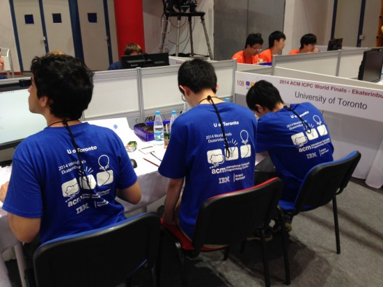 University of Toronto team at the Ekaterinburg, Russia competition.