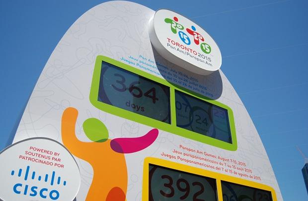 The Cisco Toronto 2015 Countdown Clock.