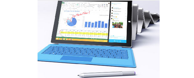 The Microsoft Surface Pro 3. (Image: Microsoft).
