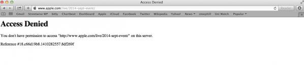 Apple-livestream-error