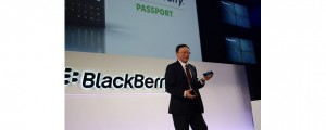 BlackBerry CEO John Chen at the launch event for the Passport. Sept. 24, 2014.
