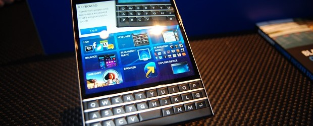 The BlackBerry Passport.