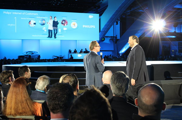 Salesforce CEO Marc Benioff is known to improvise during his keynote sessions.