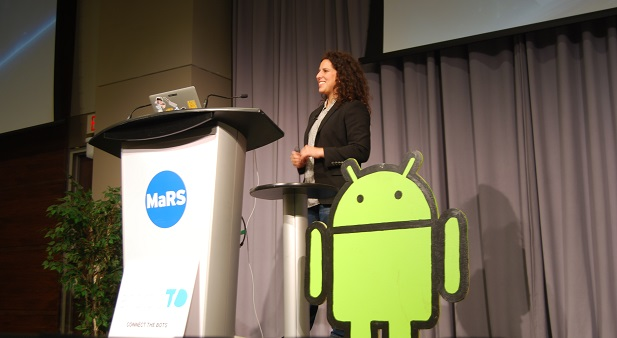 Gabrielle Levine of Google X at AndroidTO. Oct. 30, 2014.