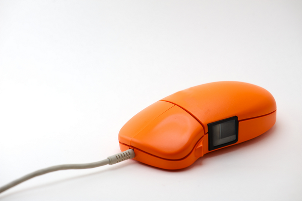 ING Direct made this fingerprint-scanning mouse available to its customers in 2000.