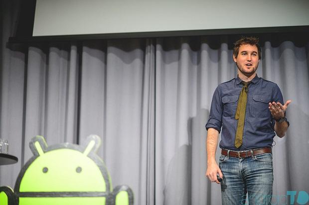 Kevin Grant of Tumblr, speaking at AndroidTO. Oct. 30, 2014. (Image: Brian De Rivera Simon, for Tarsipix Studios).