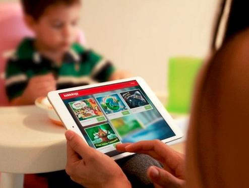 Family enjoying the new Kiddology iPad educational game