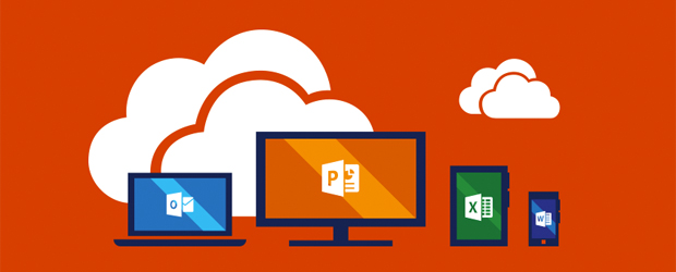 Office 365 on multiple device form factors - cartoon.