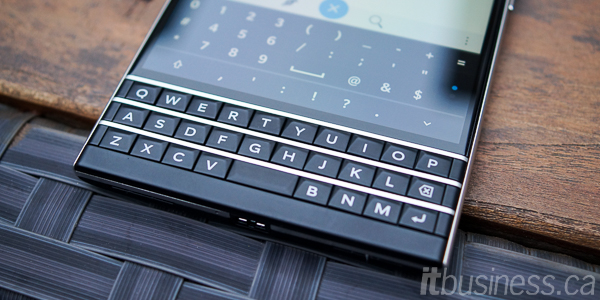 BlackBerry Passport, keyboard