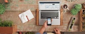Square, mobile, laptop